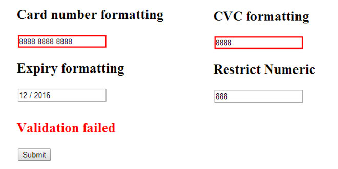 Js Tutorial - jQuery Payment - Building credit card forms