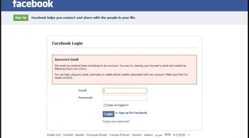 Top 10 problems why Facebook login is not working