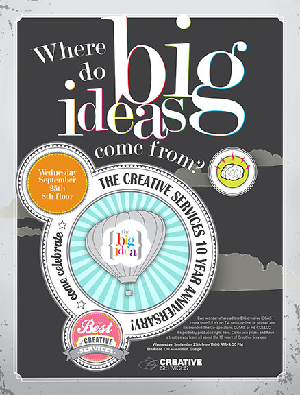 Where do big ideas come from? (event poster) \u2013 Jason Smith