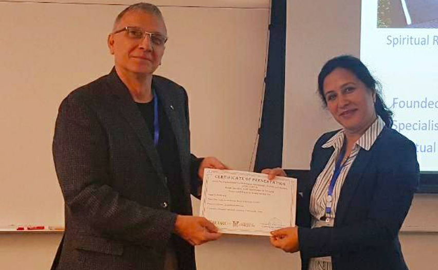 award at the 7th International conference on Knowledge Culture and Society