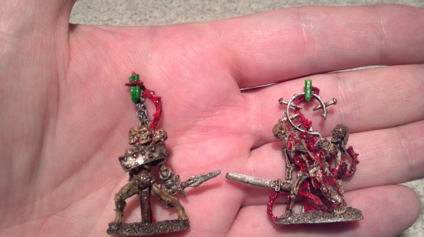 Undead skeleton / zombie construct miniatures. Click to Enlarge.