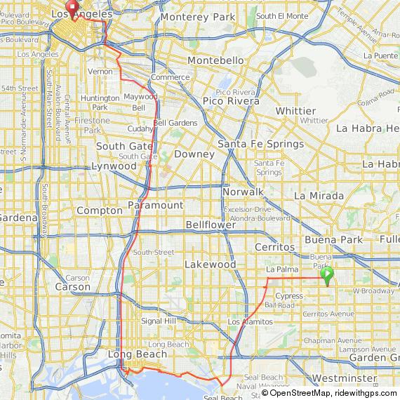 Anaheim to Los Angeles via Long Beach