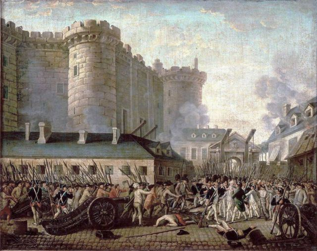 Storming of the Bastille, July 14, 1789.