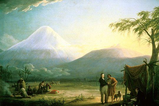 Humboldt y Bonpland a los pies del Chimborazo (Friedrich Georg Weitsch, 1810) Fuente: Wikimedia Commons