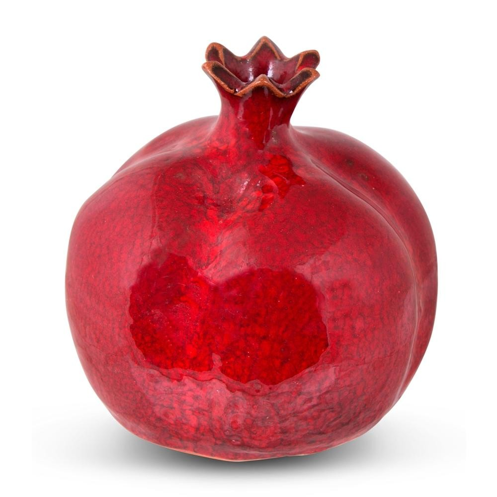 Pomegranate Pics Handmade Textured Ceramic Pomegranate Large