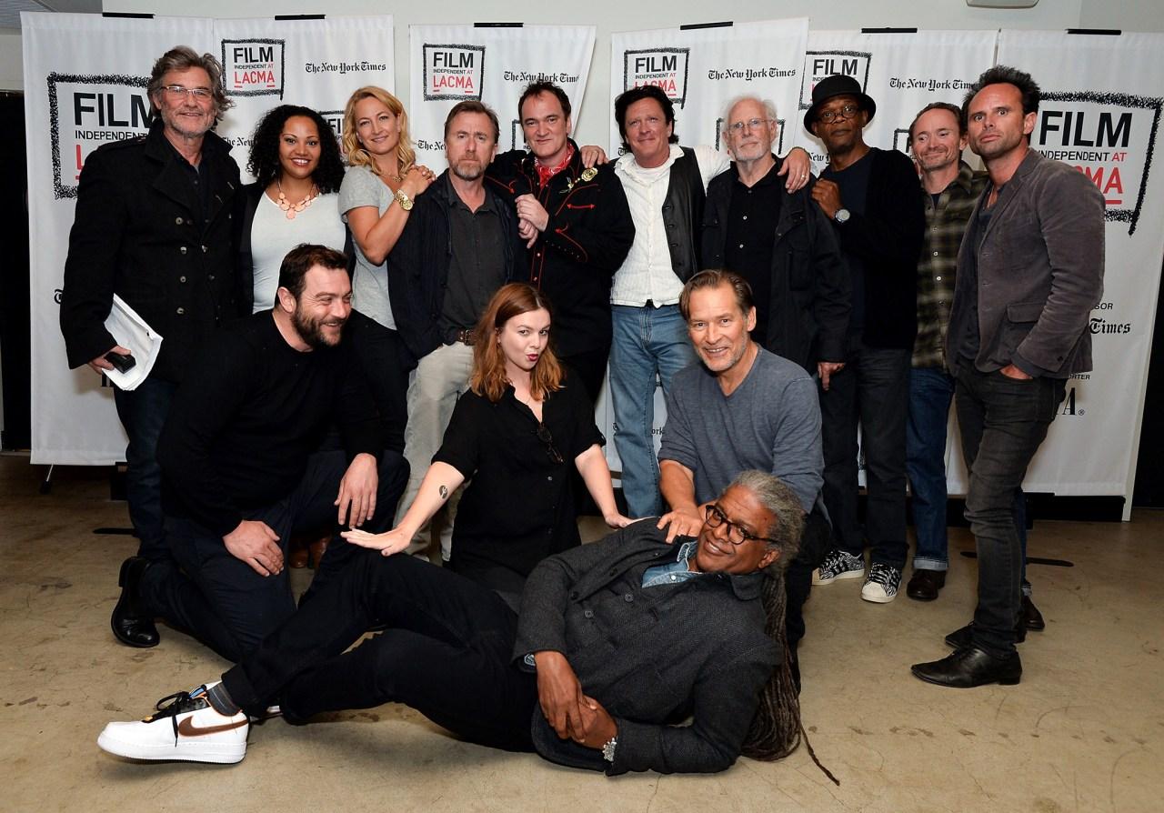 O elenco da leitura ao vivo do roteiro (vazado) de Os Oito Odiados