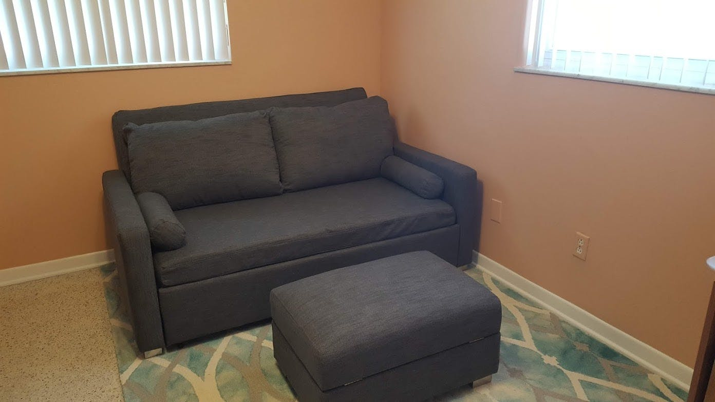 Sofa In A Box Companies Harmony Queen Size Memory Foam Sofa Bed