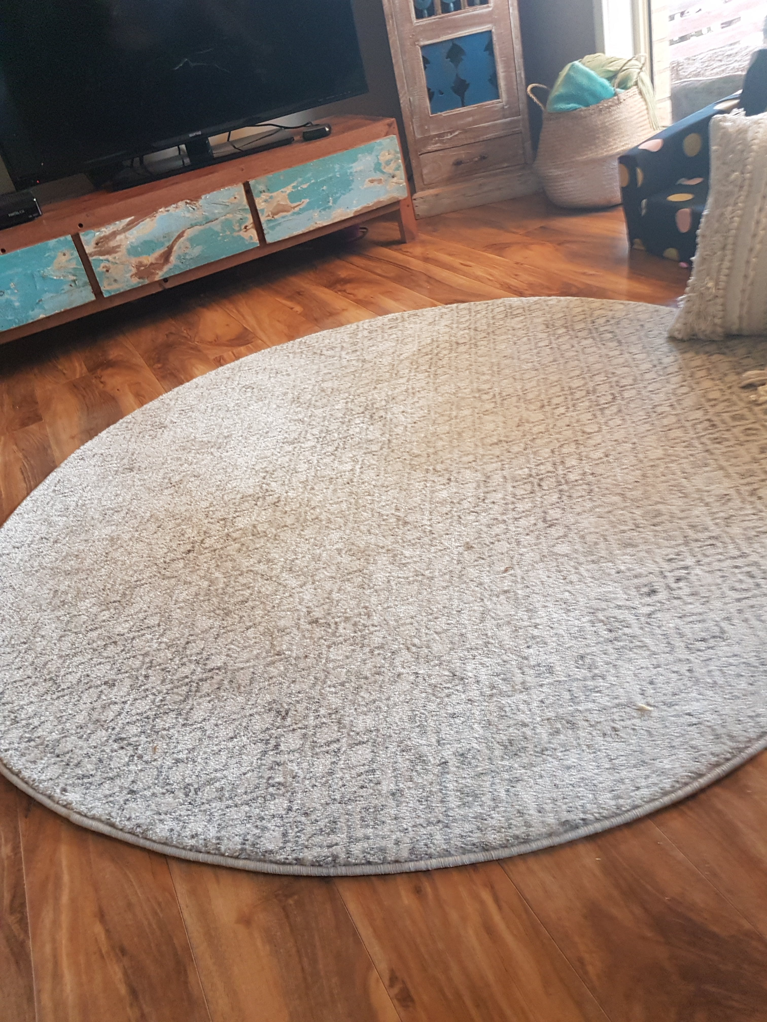 Large Rugs Sydney Dacca Transitional Grey Beige Designer Round Rug Rugs Of Beauty