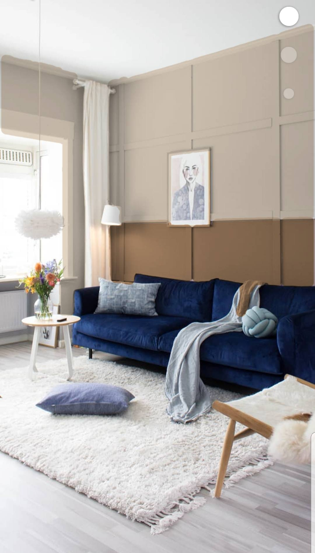 Flexa Visualiser Donkerblauw Met Spiced Honey Juudithhome Interieur