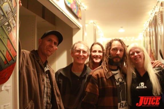 (l to r) C.R. Stecyk, Cris Dawson, Katie, Tony Alva, and Terri Craft