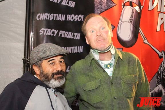 Steve Caballero and Jim Muir. Photo: Dan Levy