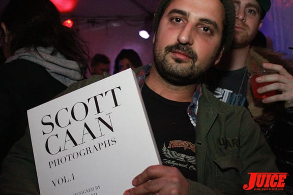 Yaniv Evan with the new Scott Caan Photographs Vol. 1 book. A collector's must have for all. Photo: Dan Levy