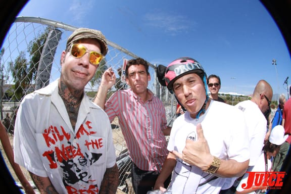 Duane Peters, Lance Mountain, Christian Hosoi. Photo: Dan Levy