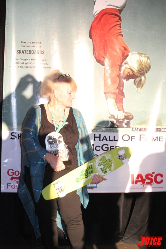 Patti Mcgee with her well deserved award.
