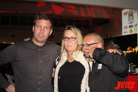 Tod Swank, Laura Thornhill and Todd Huber.