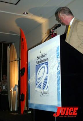 Big wave board. Photo: Dan Levy