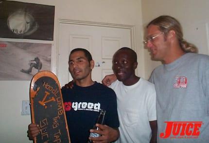 "Jesse Martinez, Floyd, Jerry ""Florida"" Lukas. Photo: Dan Levy"