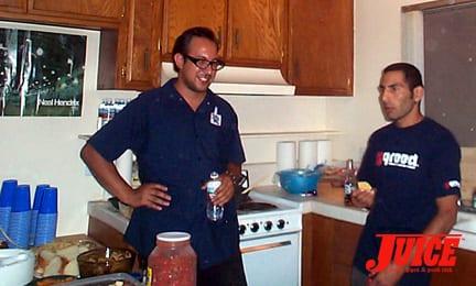 """Roland """"Cholo"""" Sanchez and Jesse Martinez. Photo: Dan Levy"""