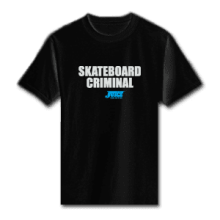 Juice Skateboard Criminal Black Short Sleeve TShirt