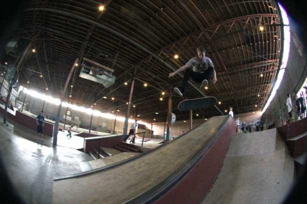 Kicflip Over the Hubba. Photo: Dan Levy