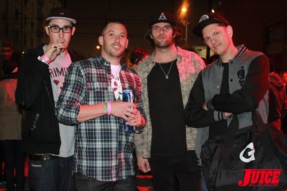Tim G Pen, Brandon Biebel, Chris G Pen, Justin G Pen Photo © Dan Levy