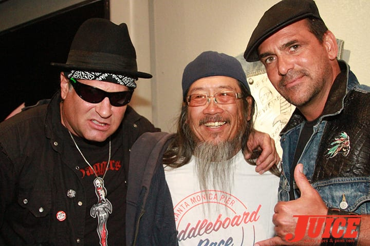 Dave Duncan, Jeff Ho and Robert Rusler. Daggers Rule! 2014. Photo by Dan Levy