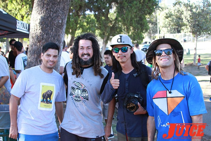 Aldemo Junior, Seu Trinh and Chad Fernandez. Diamond Skate Plaza Opening Day 2014. Photo by Dan Levy.