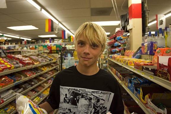 Jay Adams' son, Seven. Photo: Duncan