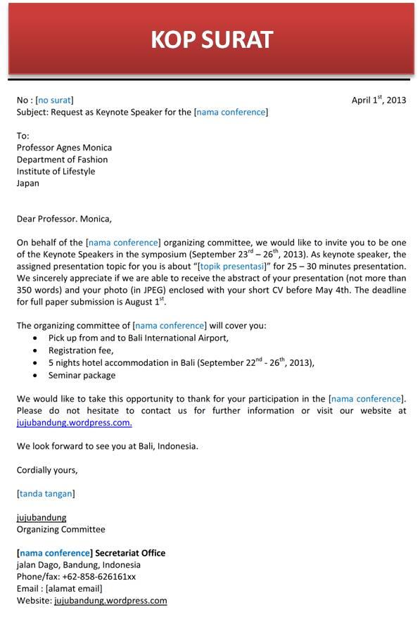contoh cover letter dalam bahasa indonesia