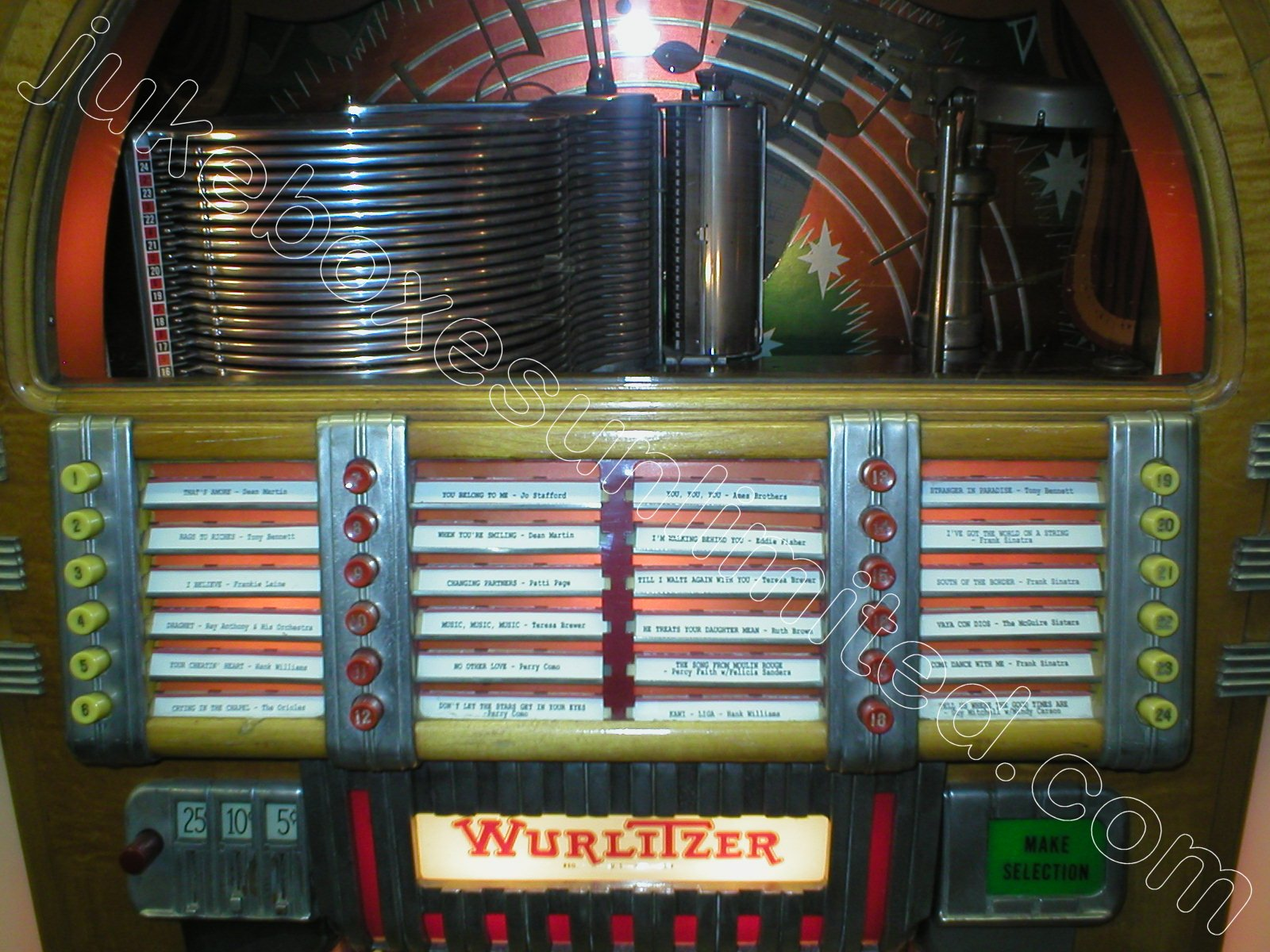 The Color Of The Wallpaper Quote 1946 Wurlitzer Quot 1015 Quot Jukebox For Sale