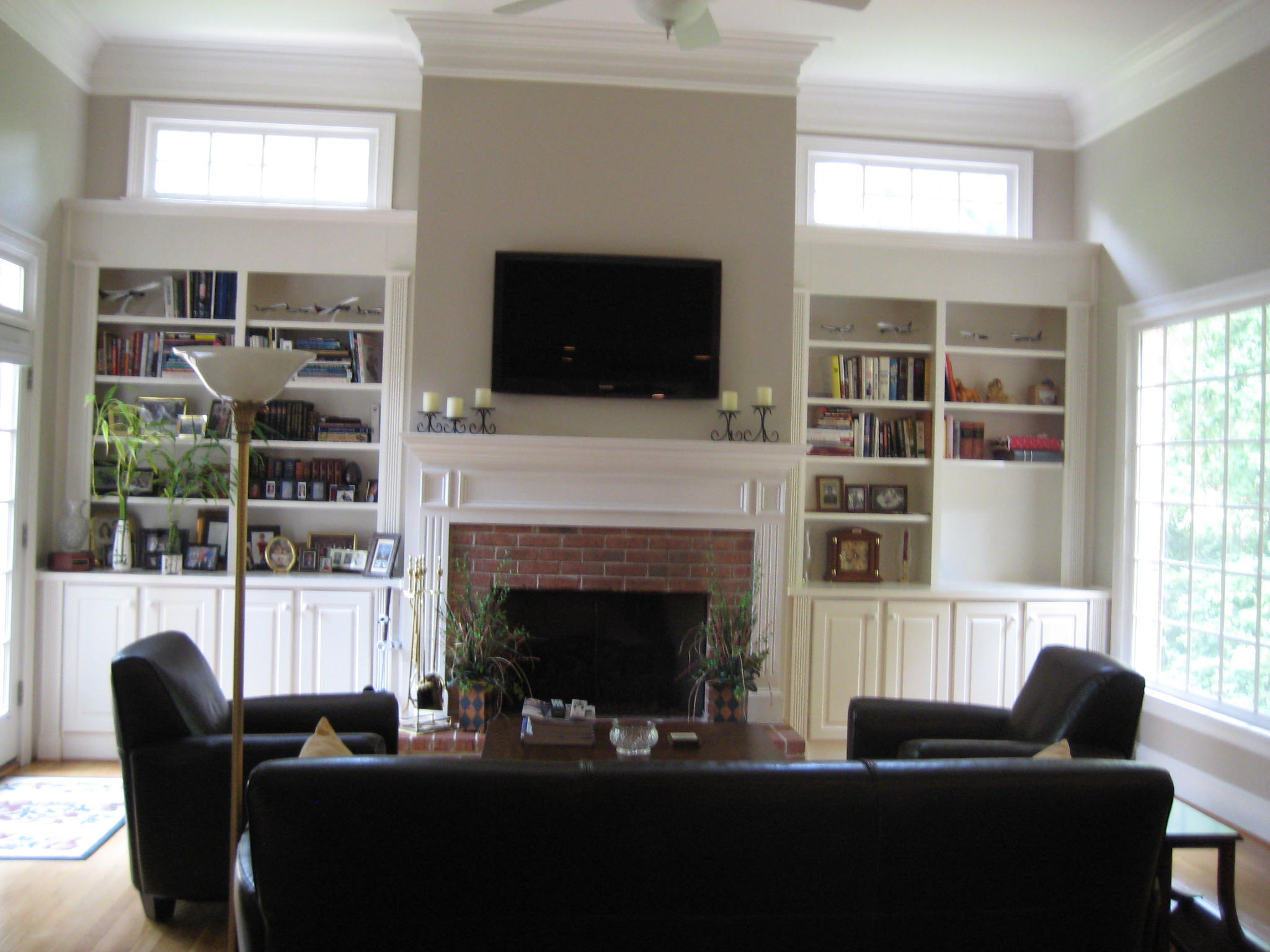 Photos Of Tv Mounted Over Fireplace Julia 39s Custom Windows And Renovations Living Room Photos