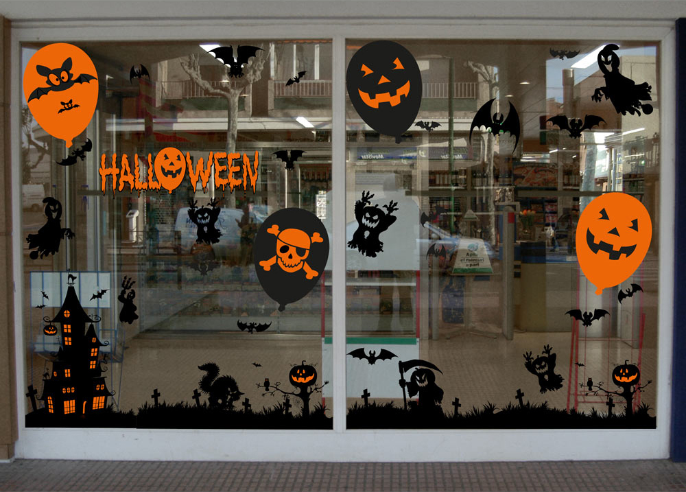 Decoration Vitrine Halloween Julie Bas