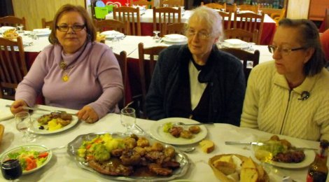 Dona Irene, Valerie and Isaura at the Casa Careto in Podence, Tras-os-Montes, photo taken by Duarte Campos