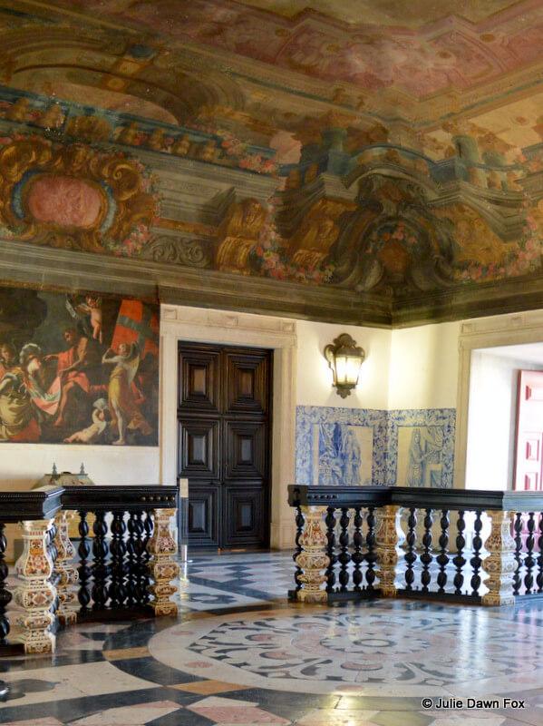Very grand entrance hall, São Vicente da Fora Monastery, Lisbon, Portugal