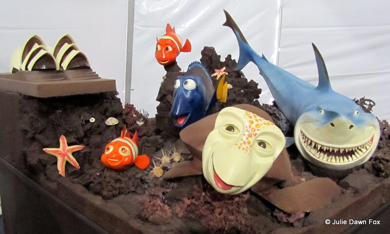Finding Nemo made of chocolate at the 2012 chocolate festival in bidos, Portugal