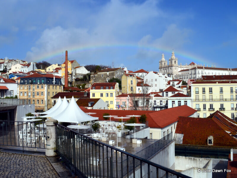 Rainbow over So Vicente da Fora monastery, Lisbon