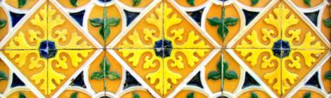Tiles in Barcelos with a raised pattern