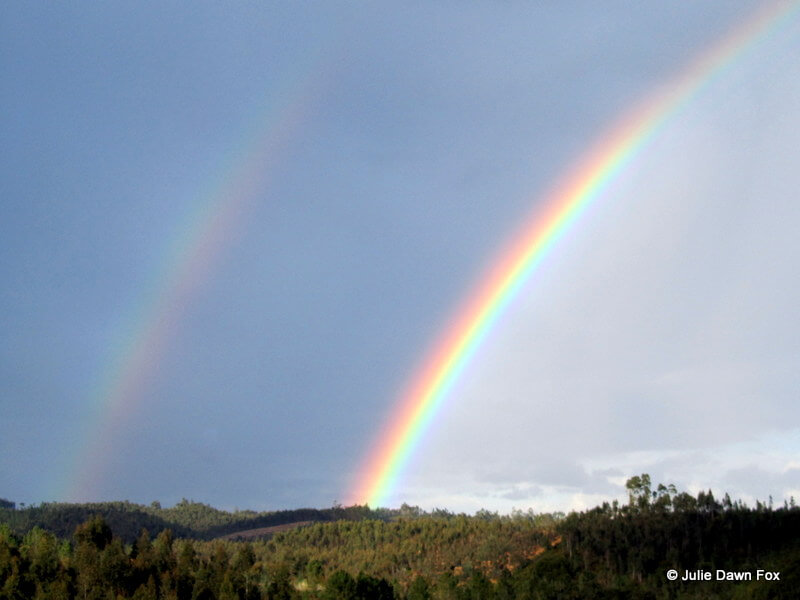 Double rainbow in Moura Morta