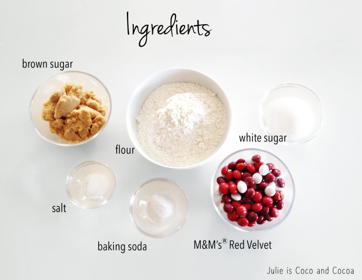 m&m red velvet cookie ingredients