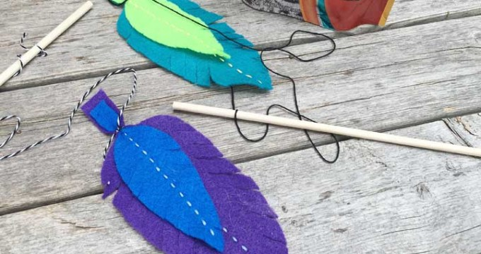 Felt Feather Cat Toy