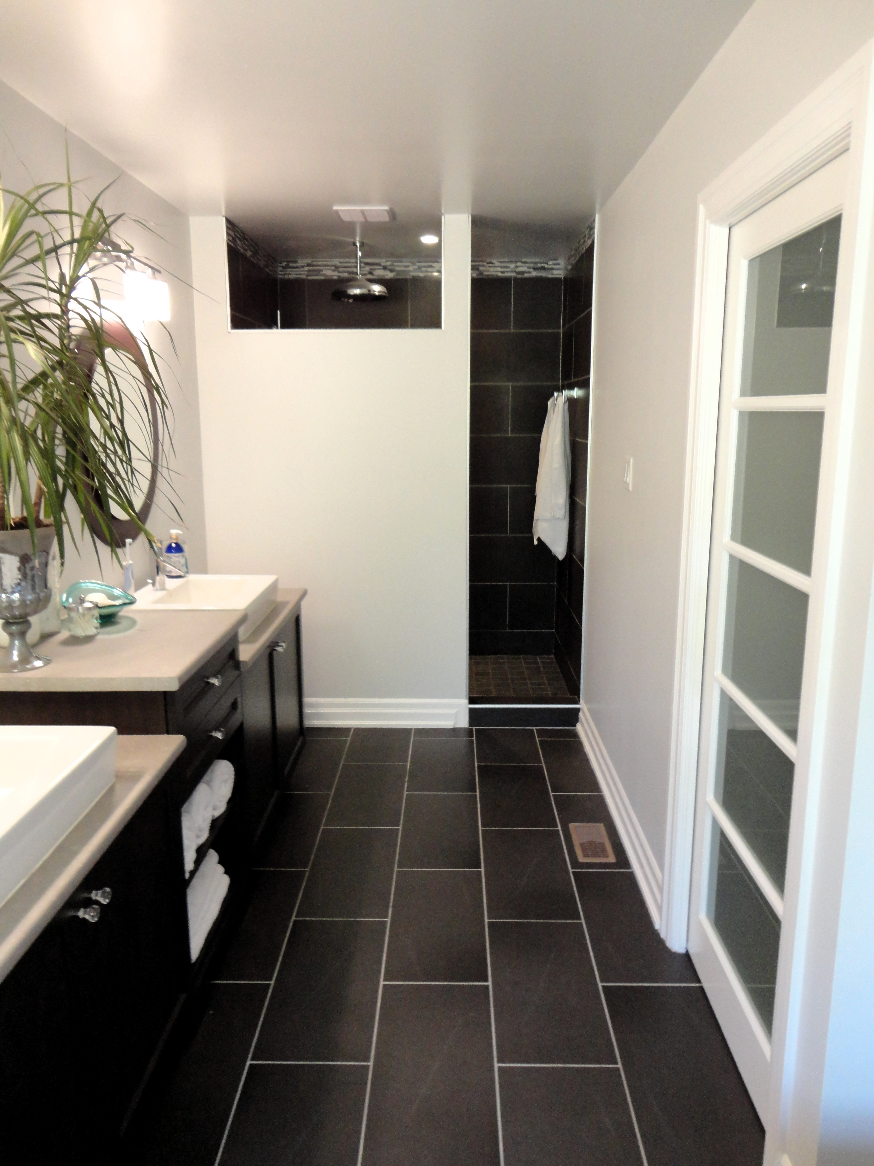 Bathroom Black And White Floor Tiles My Master Bathroom Modern And Budget Friendly