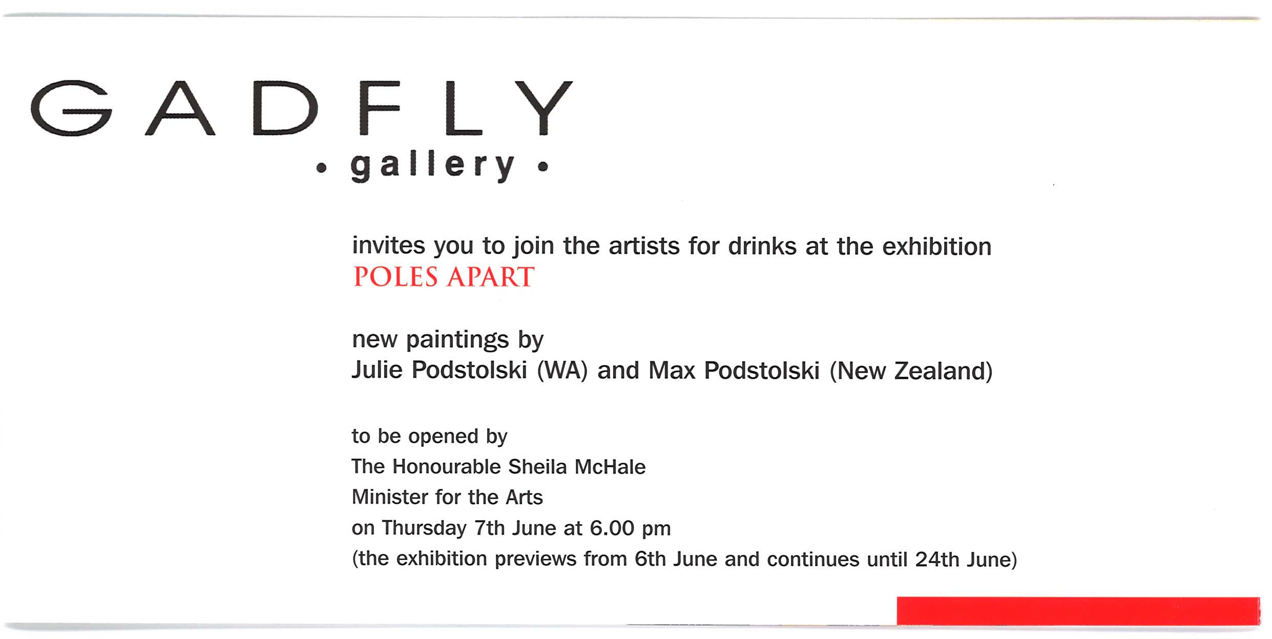 Archive Of Exhibition Invitations Julie Podstolski