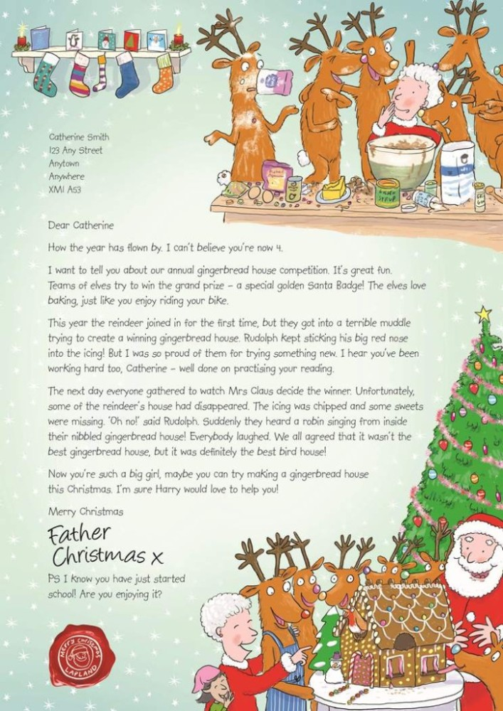 Letters from santa by the nspcc julies notebook example letter from santa spiritdancerdesigns Gallery
