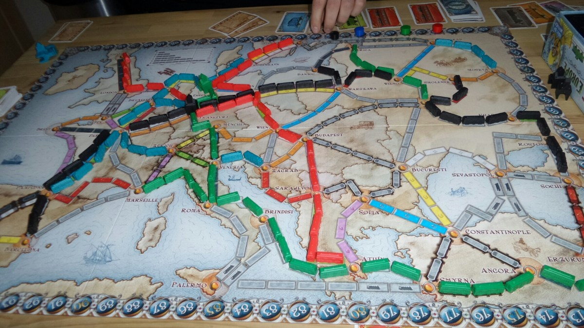 Timeline and Ticket to Ride Europe games