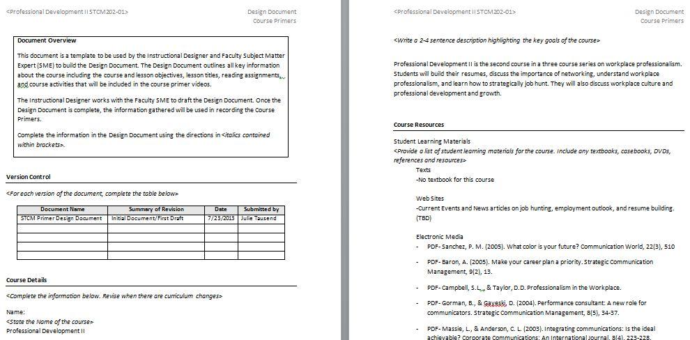 Instructional Design Document Tausend Talks EdTech - design document