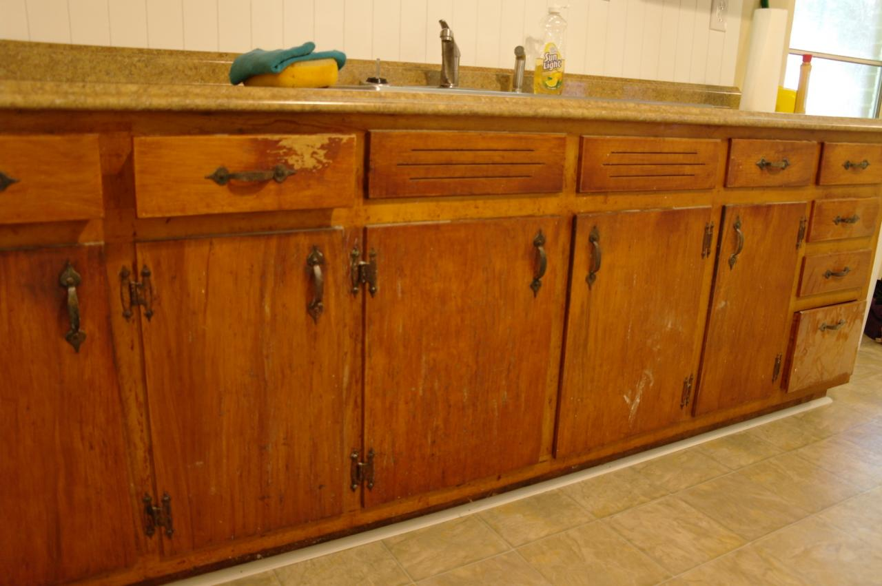 Resurfaced Kitchen Cabinets Before And After Wood Laminate Cabinet Refacing Types Of Wood