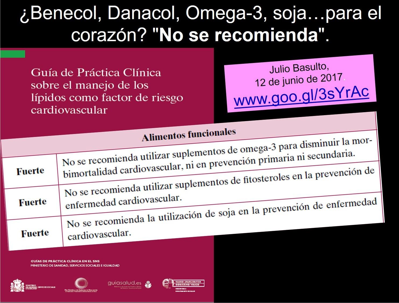 """Toca Comer. ¿Benecol, Danacol, Omega-3, soja…para el corazón? """"No se recomienda"""". Marisol Collazos Soto, Rafael Barzanallana"""