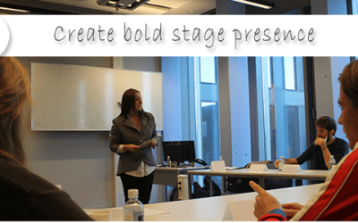 Confident, comfortable and convincing – create bold stage presence