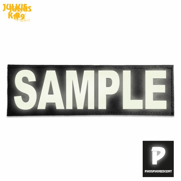 Glow in the Dark Personalised Label (Large) - Julius K9 UK - label