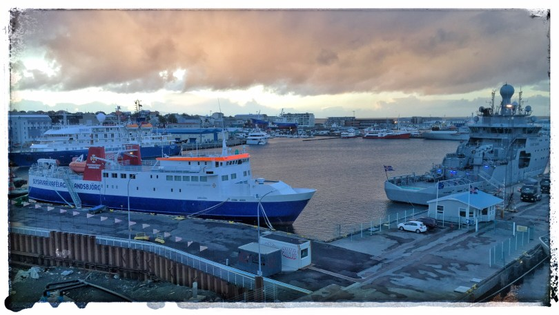 Late evening, Reykjavik harbor